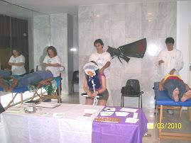 FOTO DO 5º ENCONTRO ESTADUAL DE TERAPEUTAS E PROFISSIONAIS HOLÍSTICOS - REIKI E QUICK MASSAGE
