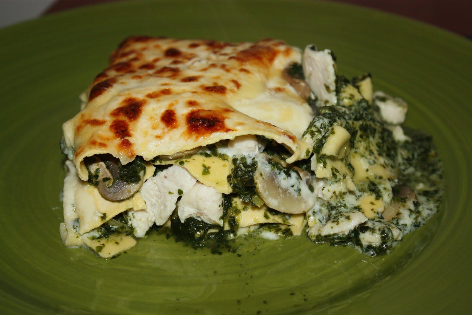 lasagne med kyckling