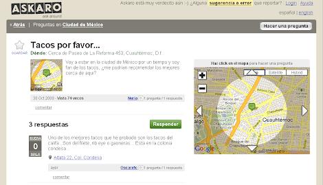 Mapa de tacos por favor
