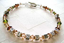 Custom Made SISTERS Bracelet with Earthy Swarovski Crystals and Sterling Beads