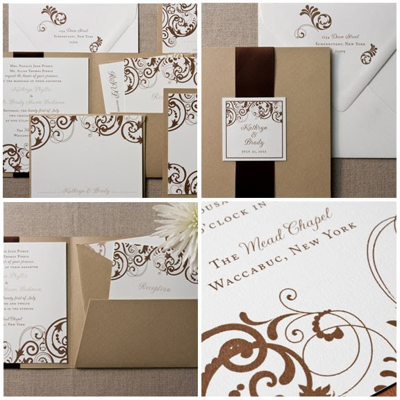 Pocket Fold Wedding Invitations Pic