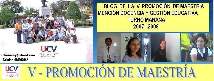 PROGRAMA DE MAESTRIA - V- PROMOCION