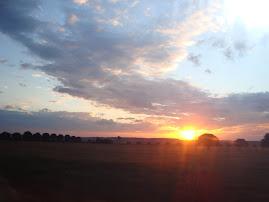 Pôr-do-sol em Patos de Minas - MG.
