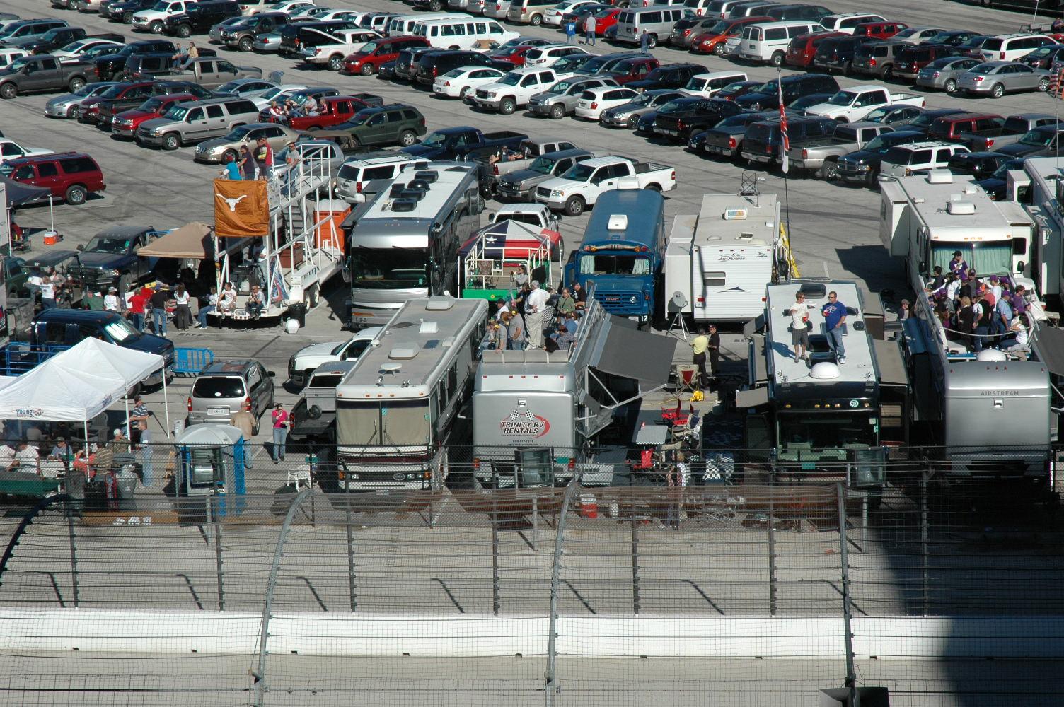 Texas motor speedway rv parking for Las vegas motor speedway rental