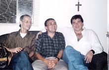 Lá em casa: Damasceno com Jerry e Glaucio