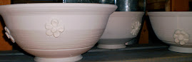 unglazed flower bowls