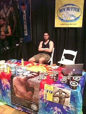 Boy Butter Booth at Black Party Expo