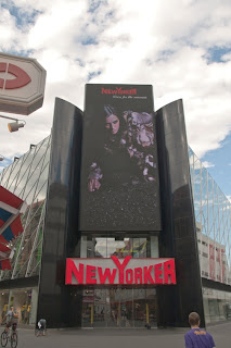 Paris: Super Model Donna Feldman on Flagship Store of New Yorker Clothing Billboard