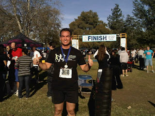 My Uber-Mensch Brother-in-Law, Dan Peck finishes 5k Run for Cancer Charity