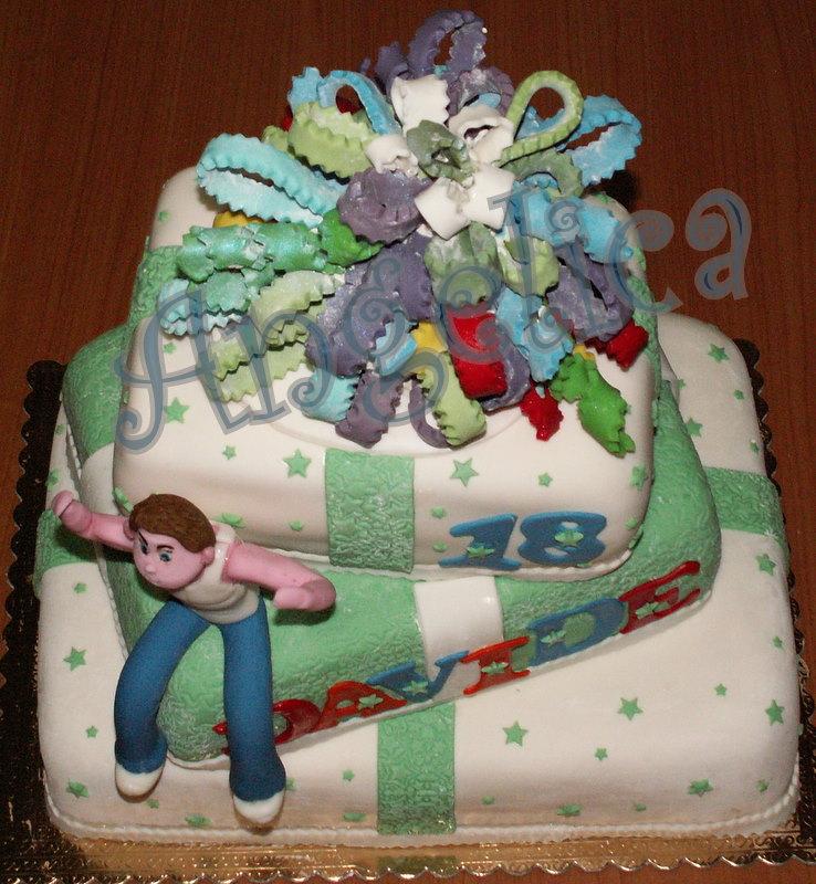 Emozioni in torte le torte di angelica che forza i 18 for Torte per 18 anni maschile