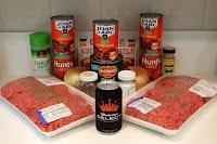 ingredients for my award-winning chili recipe
