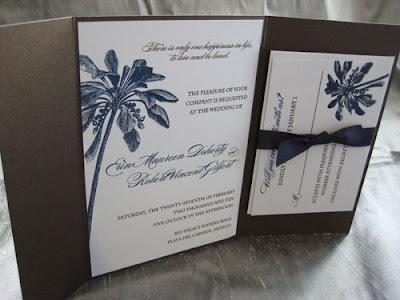 Custom Palm Tree Wedding Invitations | Blush Paperie