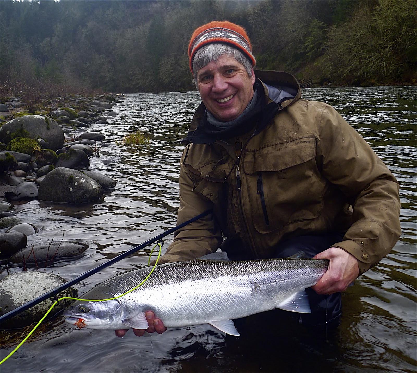 Silvey 39 s flyfishing winter steelhead season for Sandy river fishing report