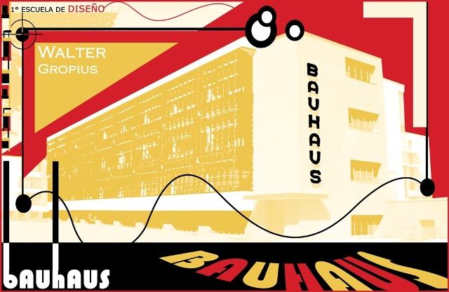 Afiche de la escuela de dise o bauhaus dise o grafico for Diseno grafico escuelas