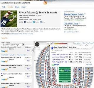 Bing Ticket Info