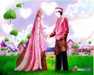 Kartun Pernikahan Muslim