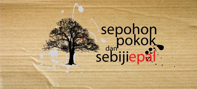 sepohon pokok dan sebiji epal