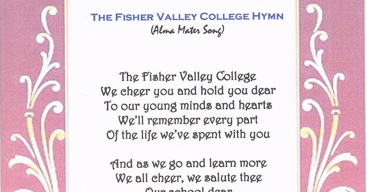the fisher valley college  the fisher valley college hymn