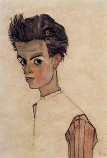 Schiele selfportrait