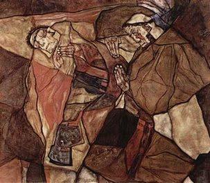 Schiele-Agonie,Der Todeskampf