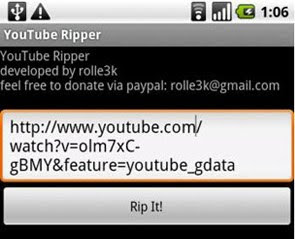 Download YouTube video na Android mobitele sa YouTube Ripper