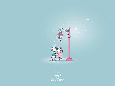 Kiss me - besplatna e-card čestitka za Valentinovo