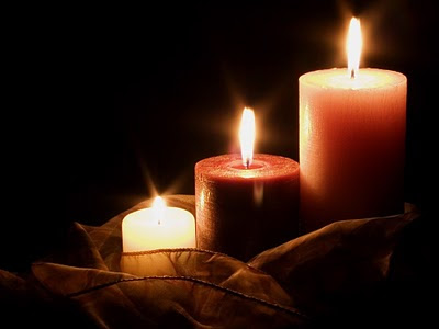 Upaljene svijeće, večer Valentinovo
