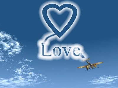 Avion napisao u zraku LOVE