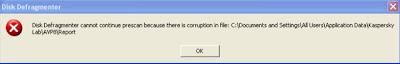 Kaspersky error defragmentacija disk virus Heur Trojan Script iFramer