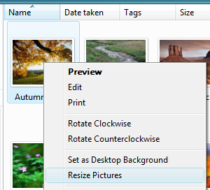 Image Resize Powertoy Clone - slike Windows 7