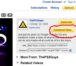 download YouTube video - Google Chrome add-on YouTube Downloader