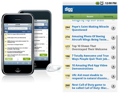Download Digg za iPhone i Android mobilne telefone