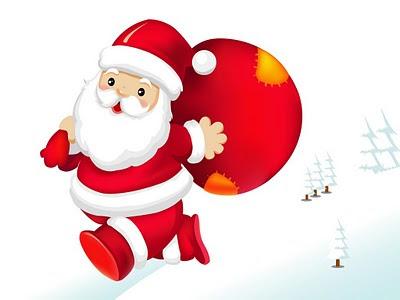 Božićne slike besplatne e-card čestitke download djed Mraz