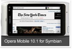 Download besplatni programi Opera Mobile 10.1 za Symbian
