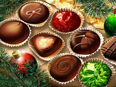 3D slike besplatne pozadine za desktop Božićni kolači slatkiši
