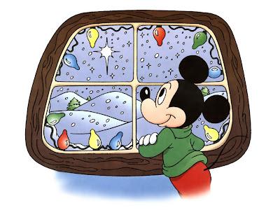 Božićne slike besplatne čestitke pozadine za desktop download free wallpapers e-cards Christmas Mickey Mouse crtani film
