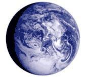 esfera planeta azul