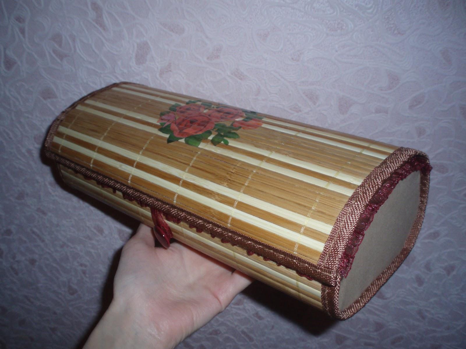 Шкатулки из бамбуковых салфеток Страна Мастеров 76