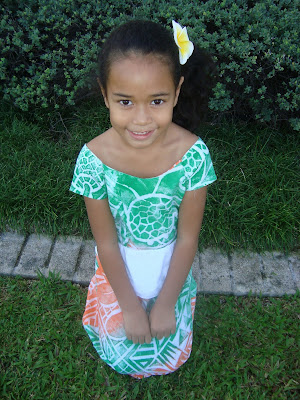 little girl Puletasi | Marial's Island Fashion