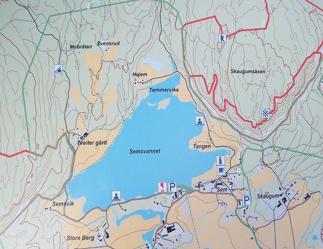 Norwegia Jezioro Semsvannet