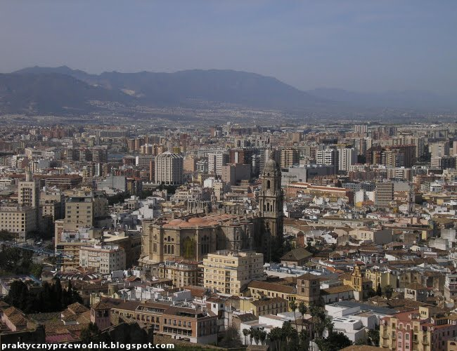 Malaga panorama miasta zdjęcia