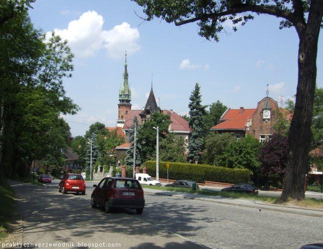 Ulica Parkowa i Plac Lasoty Park Bednarskiego