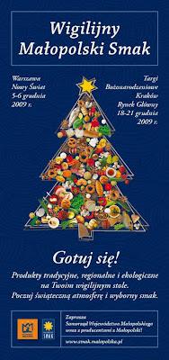 Wigilijny Małopolski Smak 2009 plakat