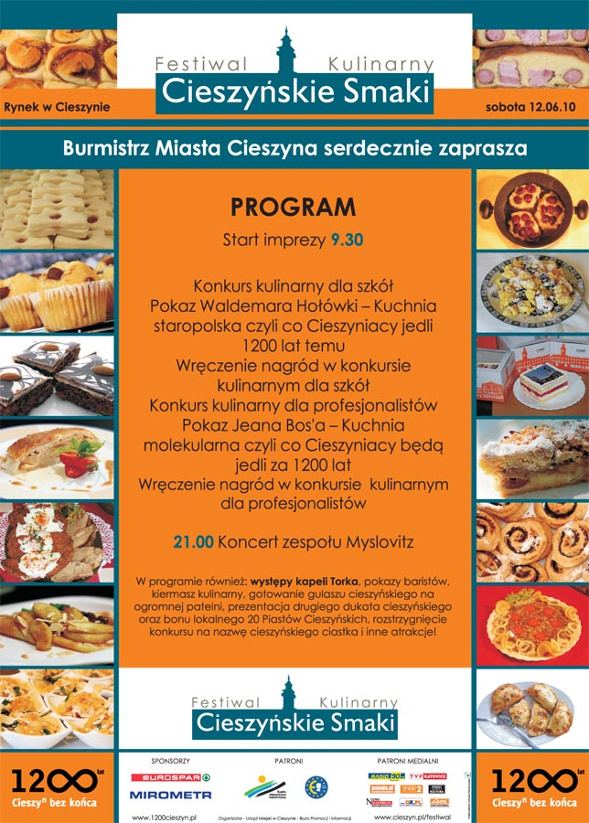 """Festiwal Kulinarny """"Cieszyńskie Smaki"""""""