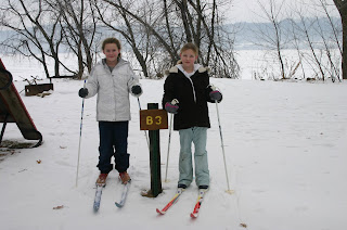 skiing on the shores of Lake Pepin
