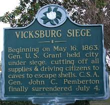 Siege of Vicksburg Historical Marker