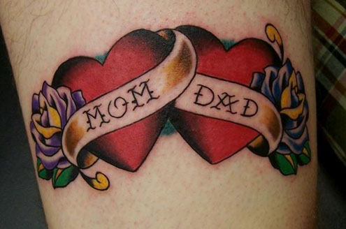 "Last but not least, I'm slightly into the idea of the ""I heart mom"" tattoo."