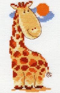 схема вышивки крестом веселый жирафик