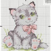 Девочка с котенком схема вышивка крестом