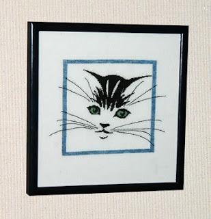 схема вышивки крестом усатого кота